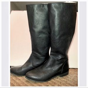 American Eagle | Black Faux Leather Boots